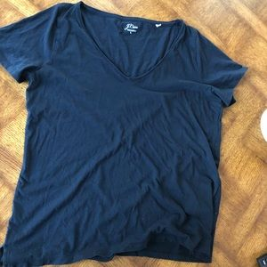 J.Crew, Cotton, Black T-Shirt, L